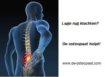 rugpijn osteopaat in Almere www.osteopathie-ilbrink.nl